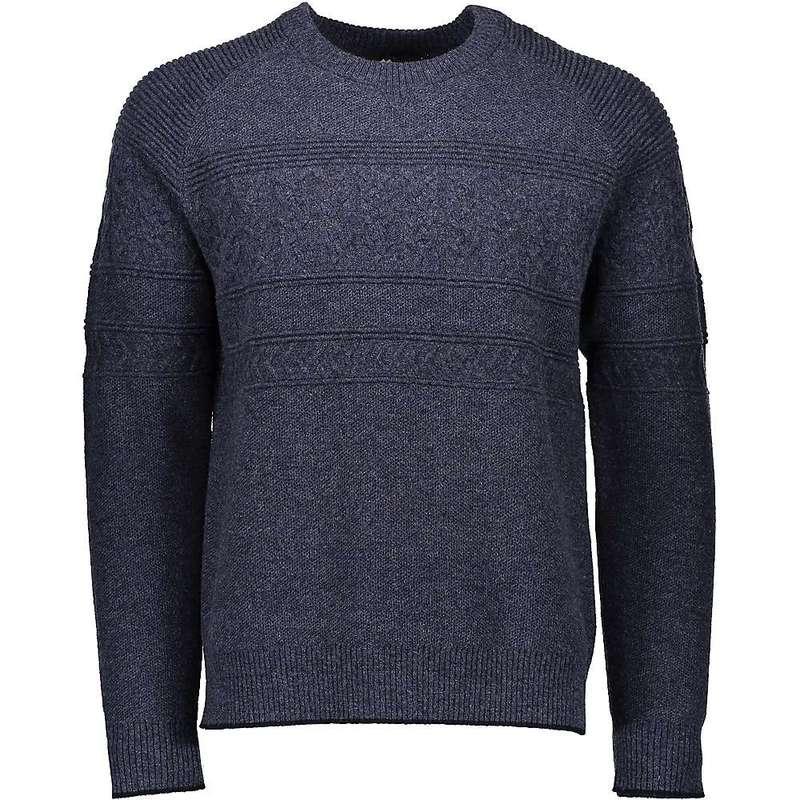 オバマイヤー メンズ ニット・セーター アウター Obermeyer Men's Textured Crewneck Sweater Trident