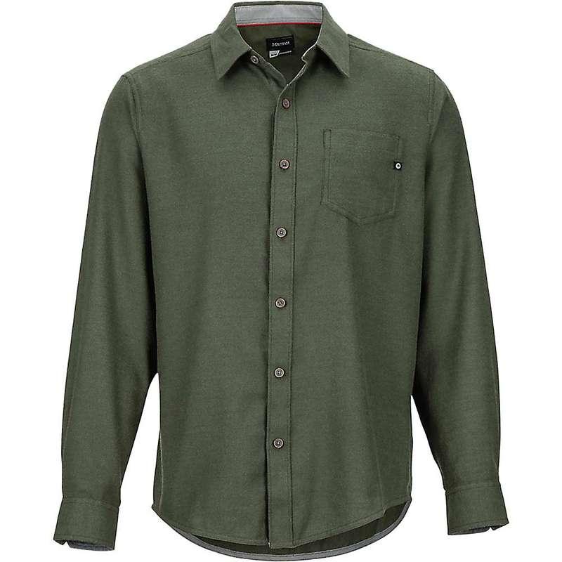 マーモット メンズ シャツ トップス Marmot Men's Hobson Midweight Flannel LS Shirt Rosin Green Heather