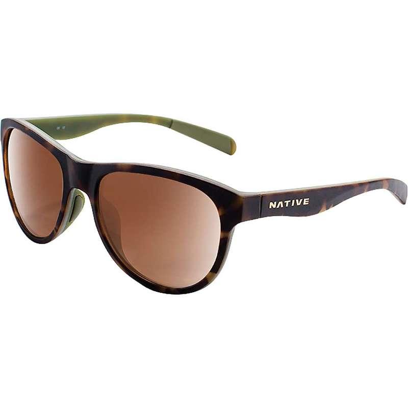 ネイティブ メンズ サングラス・アイウェア アクセサリー Native Acadia Polarized Sunglasses Matte Dark Tort / Brown