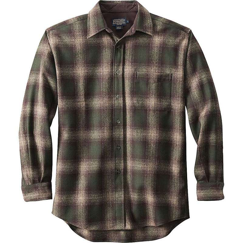 ペンドルトン メンズ シャツ トップス Pendleton Men's Long Sleeve Lodge Shirt Brown/Green/Taupe Mix Ombre