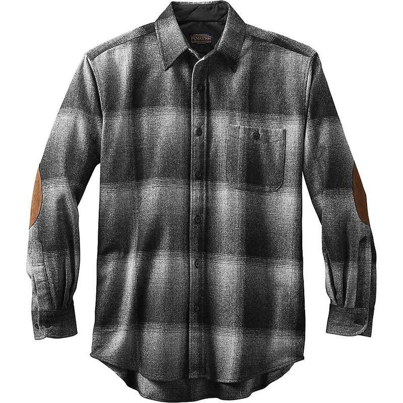 ペンドルトン メンズ シャツ トップス Pendleton Men's Long Sleeve Trail Shirt w/ Elbow Patch Charcoal Ombre