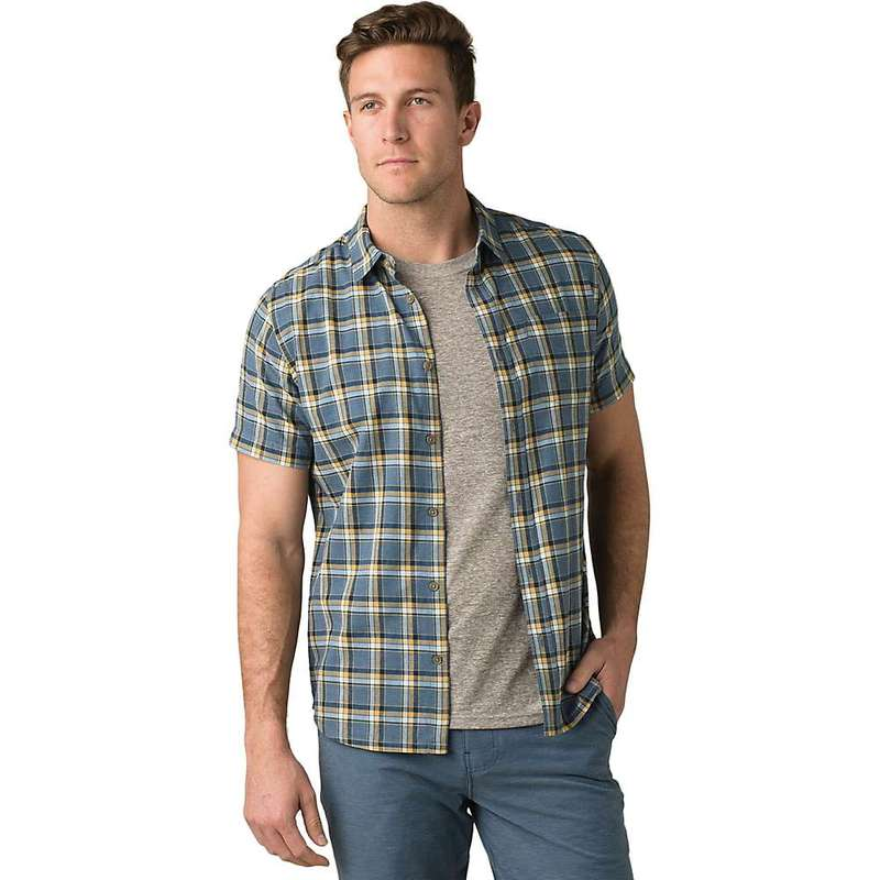 プラーナ メンズ シャツ トップス Prana Men's Bryner Shirt - Standard Nickel