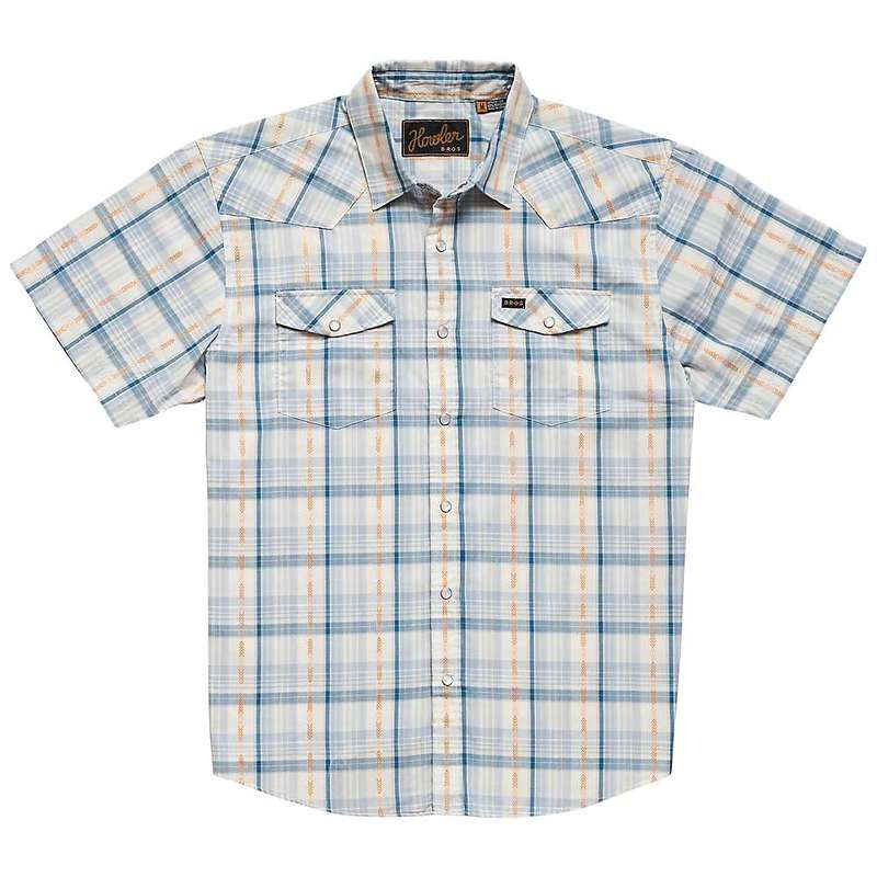 ハウラーブラザーズ メンズ シャツ トップス Howler Brothers Men's H Bar B Snapshirt Brooks Plaid Creamy Blue
