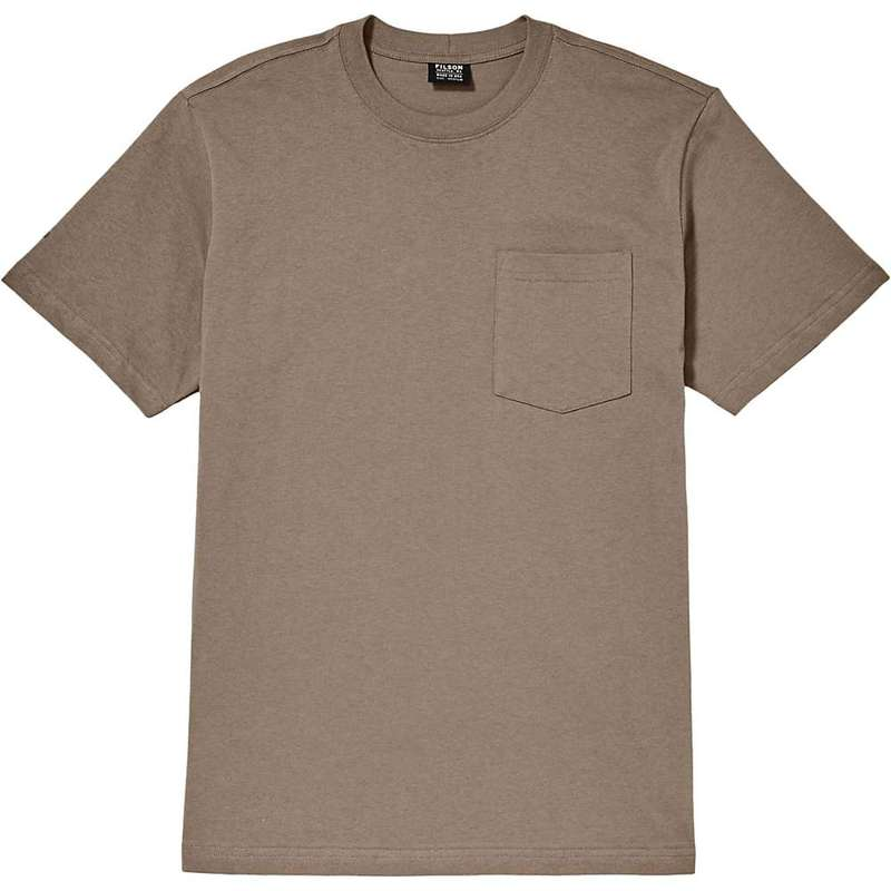 フィルソン メンズ Tシャツ トップス Filson Men's Outfitter Solid One-Pocket SS T-Shirt Dark Mushroom