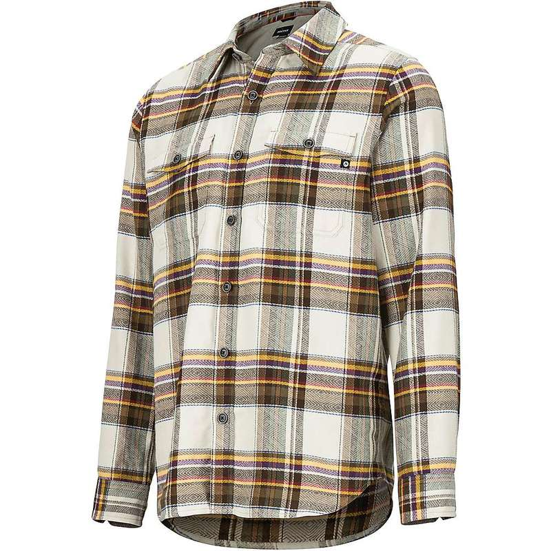 マーモット メンズ シャツ トップス Marmot Men's Zephyr Cove Midweight Flannel LS Shirt Moonstruck