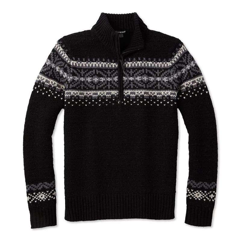 スマートウール メンズ ニット・セーター アウター Smartwool Men's CHUP Hansker Half Zip Sweater Black