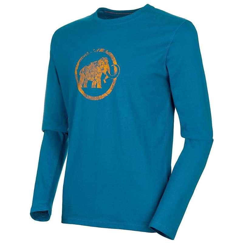 マムート メンズ シャツ トップス Mammut Men's Logo LS T-Shirt Sapphire