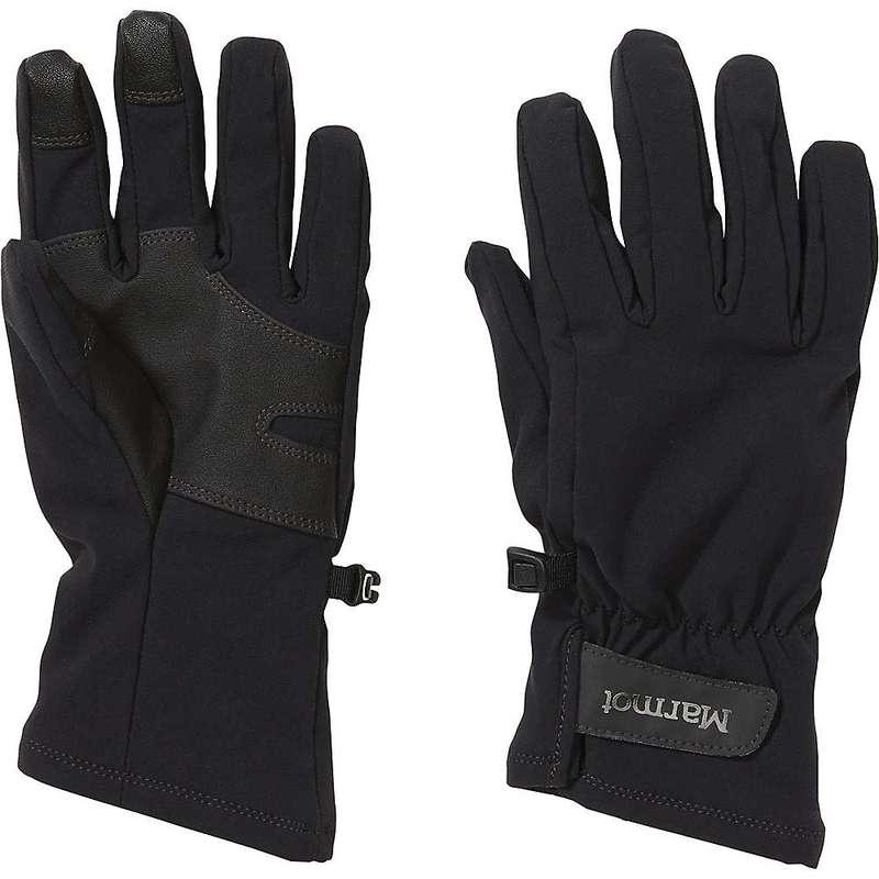 送料無料 サイズ交換無料 マーモット レディース アクセサリー 手袋 Slydda Black Softshell Women's 限定価格セール Marmot Glove ブランド激安セール会場