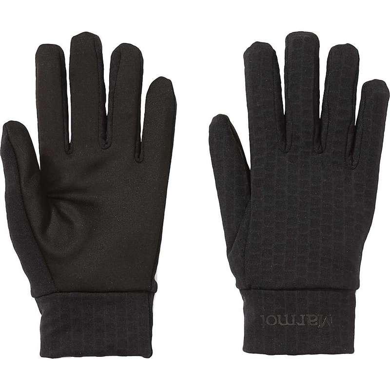 送料無料 SALENEW大人気! サイズ交換無料 マーモット メンズ セットアップ アクセサリー 手袋 Liner Glove Marmot Connect Black
