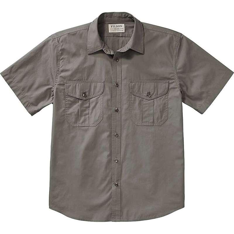 フィルソン メンズ シャツ トップス Filson Men's Short Sleeve Feather Cloth Shirt Light Olive