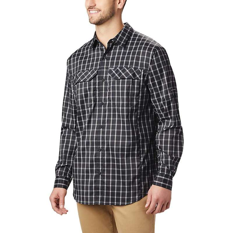 コロンビア メンズ シャツ トップス Columbia Men's Silver Ridge Lite Plaid Long Sleeve Shirt Black Small Plaid