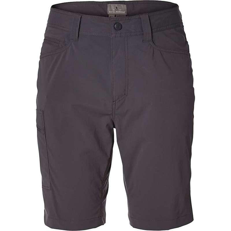 ロイヤルロビンズ メンズ ハーフパンツ・ショーツ ボトムス Royal Robbins Men's Active Traveler Stretch Short Asphalt