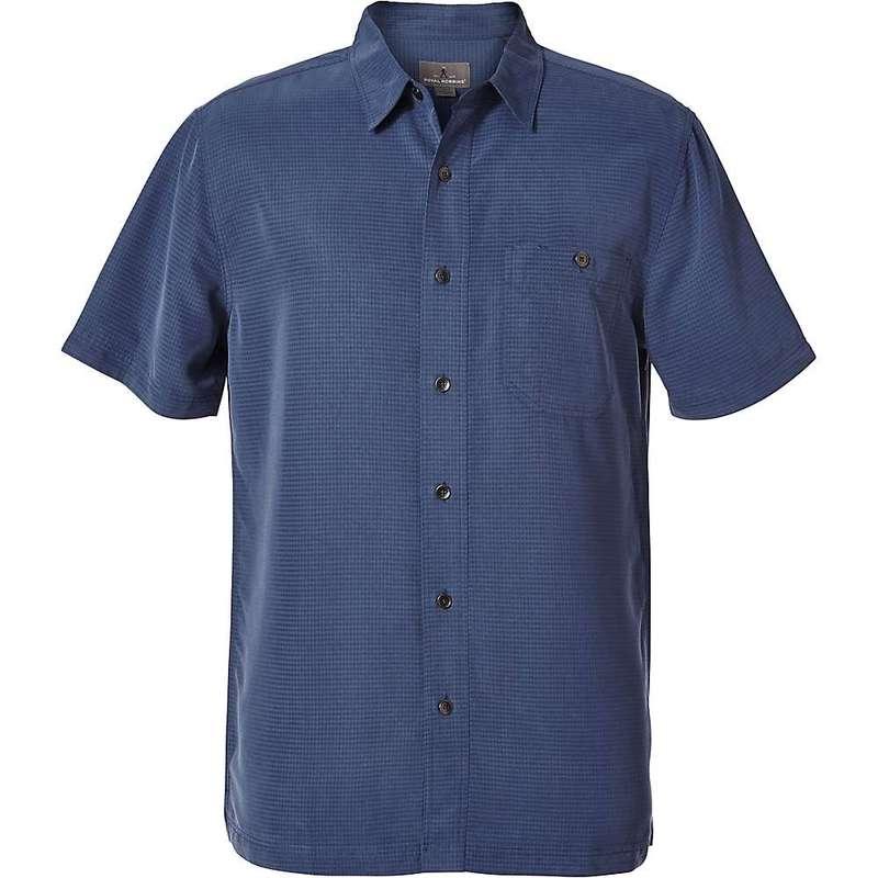 ロイヤルロビンズ メンズ シャツ トップス Royal Robbins Men's Mojave Pucker Dry SS Shirt Collins Blue