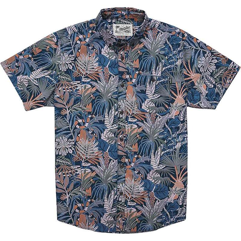 ハウラーブラザーズ メンズ シャツ トップス Howler Brothers Men's Mansfield Shirt Glades Print / Midnight Blue