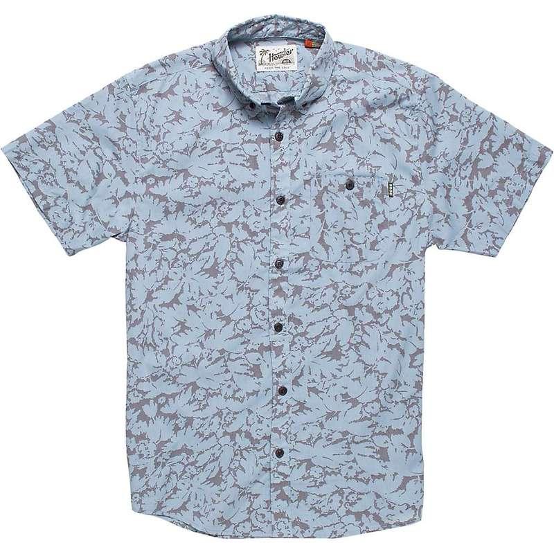 ハウラーブラザーズ メンズ シャツ トップス Howler Brothers Men's Mansfield Shirt Washout Print Blue Light