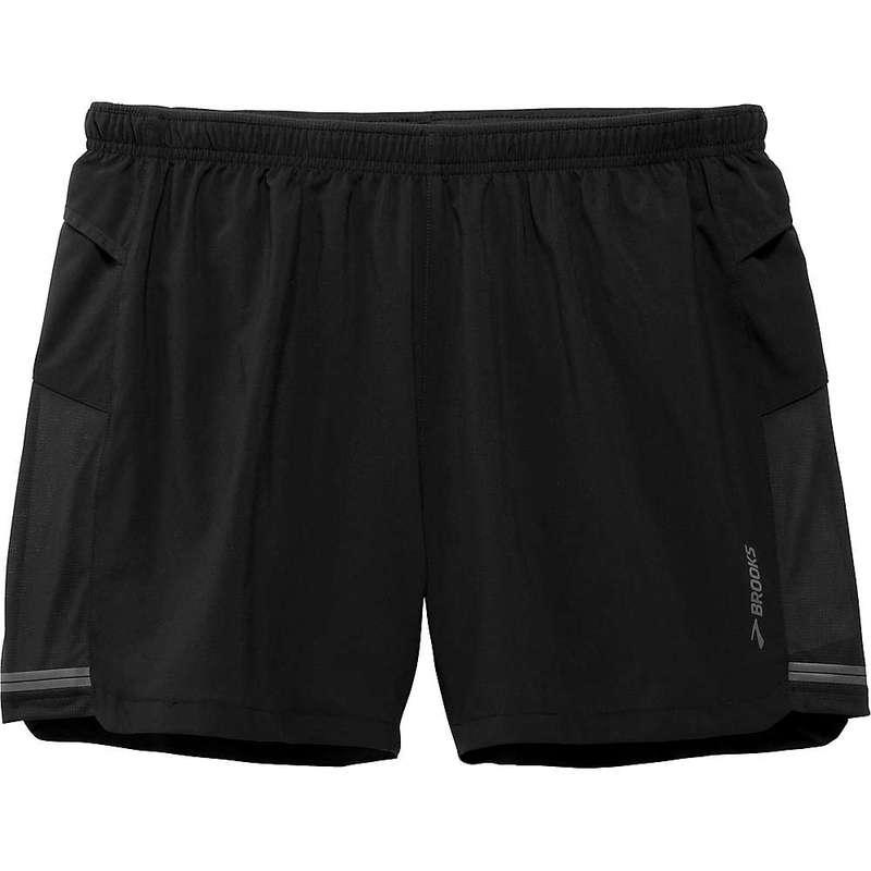 ブルックス メンズ ハーフパンツ・ショーツ ボトムス Brooks Men's Sherpa 5IN Short Black