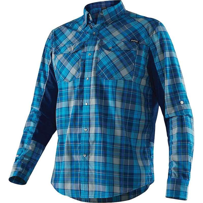 エヌアールエス メンズ シャツ トップス NRS Men's Guide LS Shirt Blue