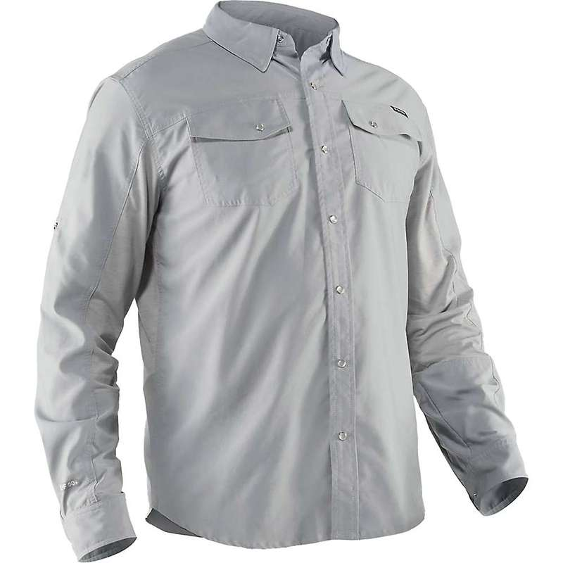 エヌアールエス メンズ シャツ トップス NRS Men's Guide LS Shirt Quarry