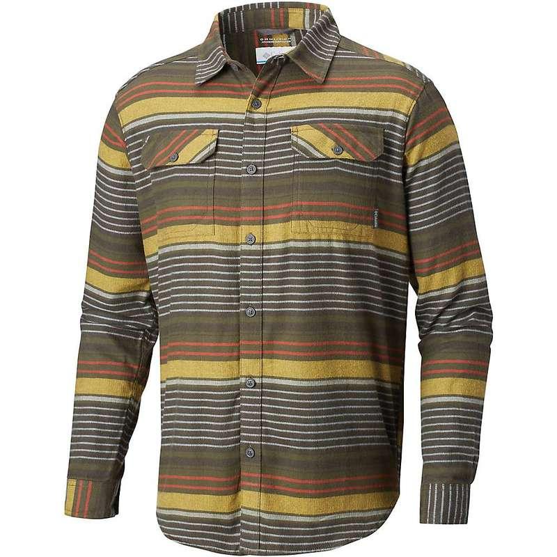 コロンビア メンズ シャツ トップス Columbia Men's Flare Gun Flannel III LS Shirt Peatmoss Stripe