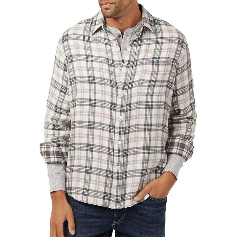 ファレティ メンズ シャツ トップス Faherty Reversible Belmar Long Sleeve Shirt Cream Charcoal Plaids