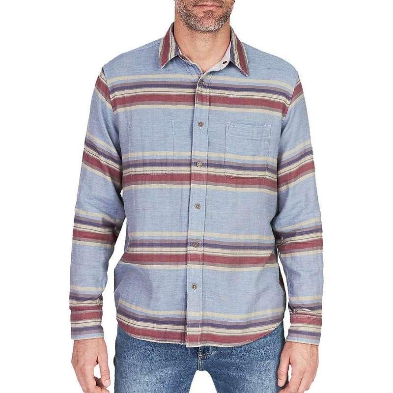 ファレティ メンズ シャツ トップス Faherty Reversible Belmar Long Sleeve Shirt Light Grey / Serape
