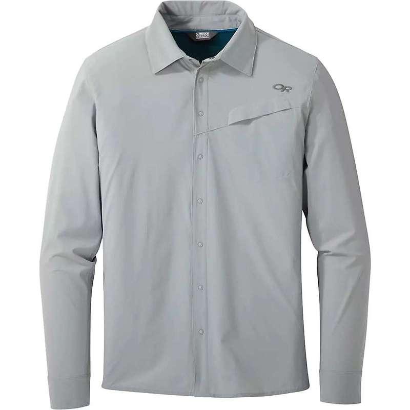 アウトドアリサーチ メンズ シャツ トップス Outdoor Research Men's Astroman LS Sun Shirt Solid Light Pewter