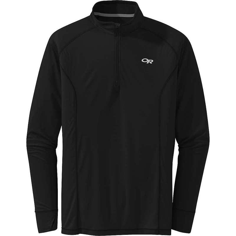 アウトドアリサーチ メンズ シャツ トップス Outdoor Research Men's Echo Qtr Zip Top Black
