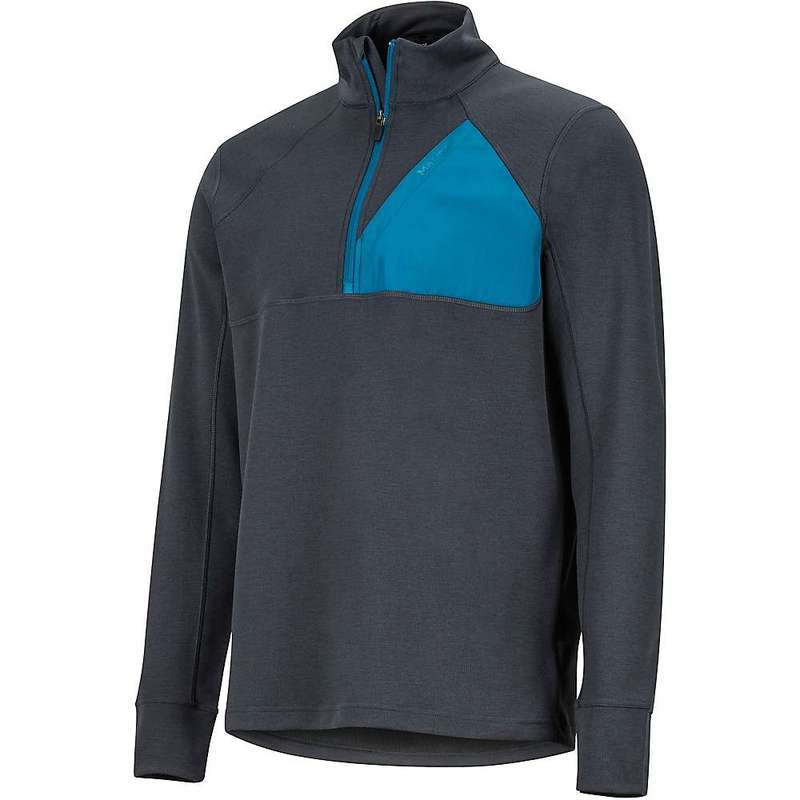 マーモット メンズ シャツ トップス Marmot Men's Hanging Rock 1/2 Zip Top Dark Steel / Moroccan Blue
