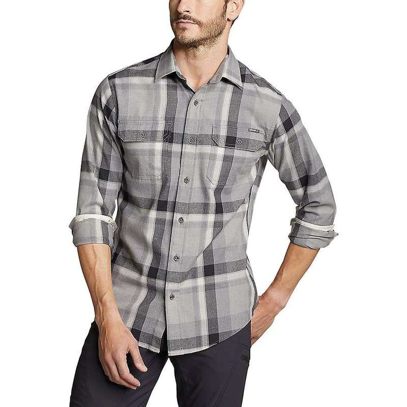 エディー バウアー メンズ シャツ トップス Eddie Bauer Travex Men's Expedition Flannel Shirt Lead