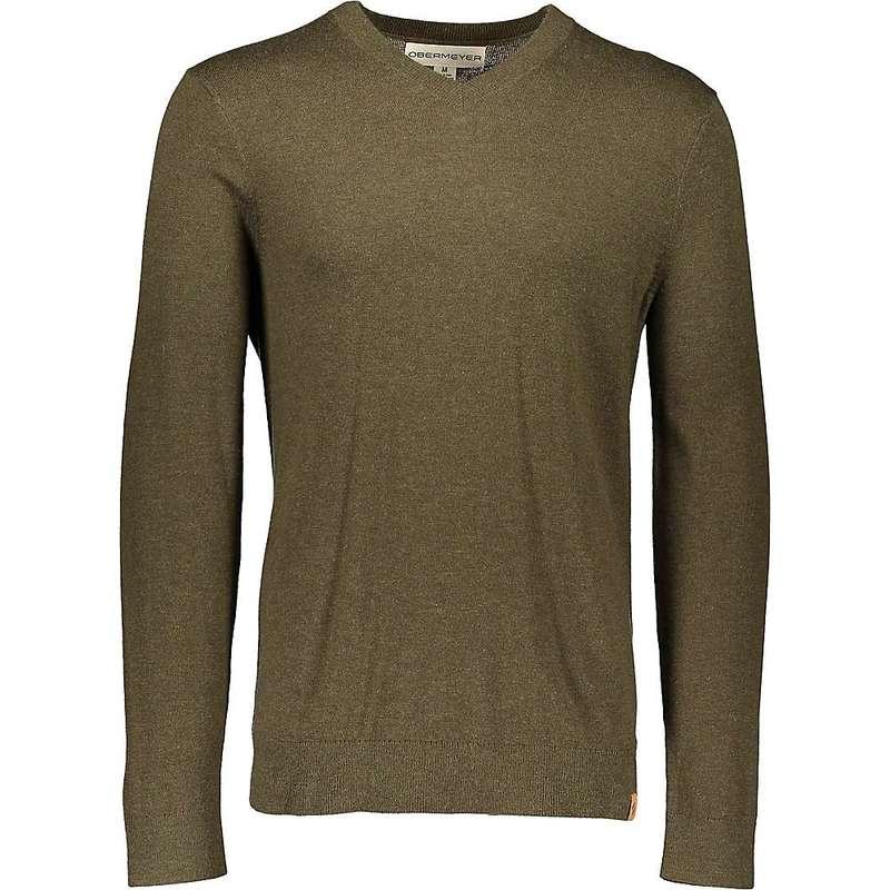 オバマイヤー メンズ ニット・セーター アウター Obermeyer Men's Mason V-Neck Sweater Military Time