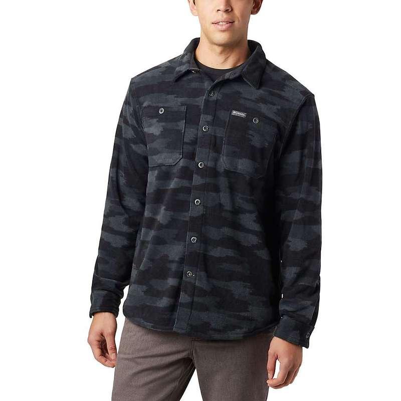 コロンビア メンズ シャツ トップス Columbia Men's Flare Gun Fleece Over Shirt Black Camo