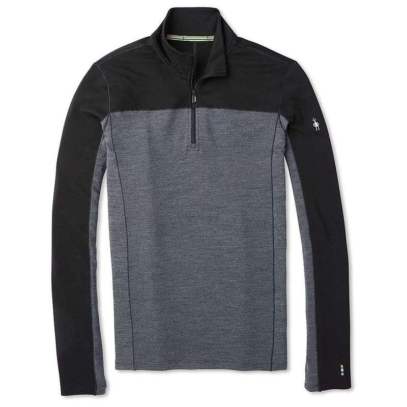 スマートウール メンズ シャツ トップス Smartwool Men's Merino Sport 250 LS 1/4 Zip Top Black
