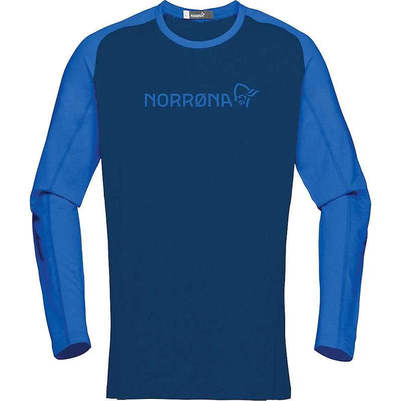 ノローナ メンズ シャツ トップス Norrona Men's Fjora Equaliser Lightweight Long Sleeve Indigo Night