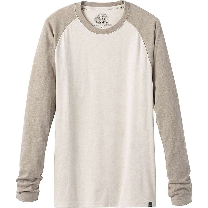 プラーナ メンズ シャツ トップス Prana Men's Baseball Raglan T-Shirt Stone Heather