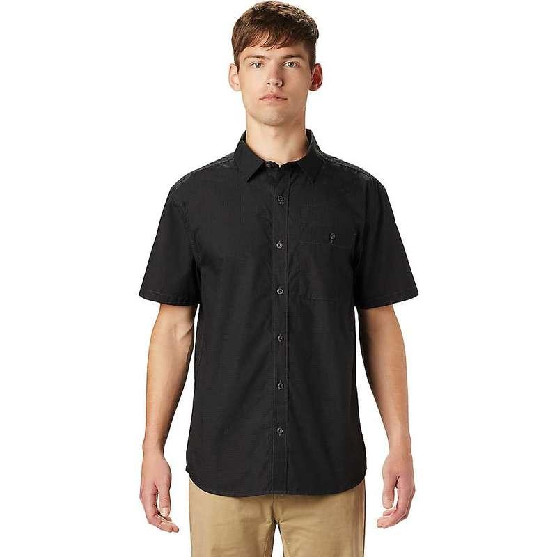 マウンテンハードウェア メンズ シャツ トップス Mountain Hardwear Men's Conness Lakes SS Shirt Dark Storm Dot Print