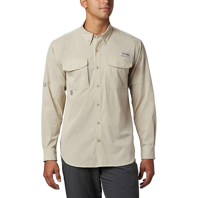コロンビア メンズ シャツ トップス Columbia Men's Permit Woven LS Shirt Fossil