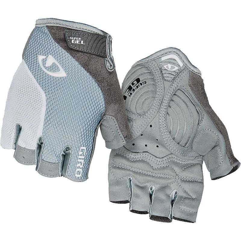 直送商品 送料無料 サイズ交換無料 ジロ レディース アクセサリー 手袋 豊富な品 Titanium Grey Women's Cycling Massa Glove White Strada Supergel Giro