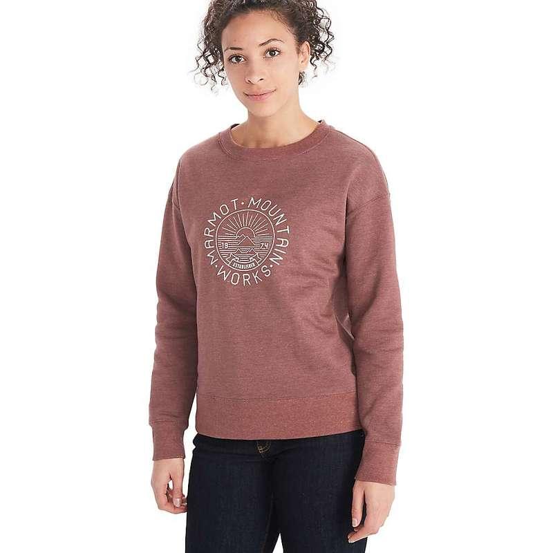 送料無料 サイズ交換無料 マーモット レディース アウター パーカー スウェット メーカー直送 Winestone Women's Works Mountain 40%OFFの激安セール Marmot Heather Crew-Neck Sweatshirt