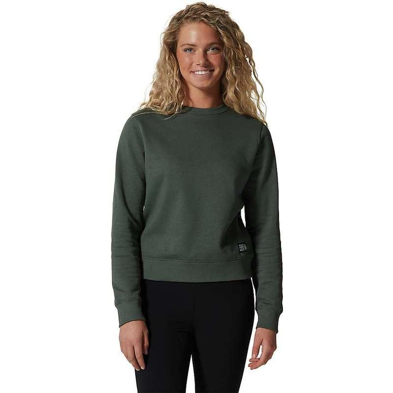 送料無料 サイズ交換無料 SALE マウンテンハードウェア レディース アウター パーカー 価格 交渉 スウェット Black Spruce Women's MHW Logo Hardwear Crew Mountain Label Sweatshirt