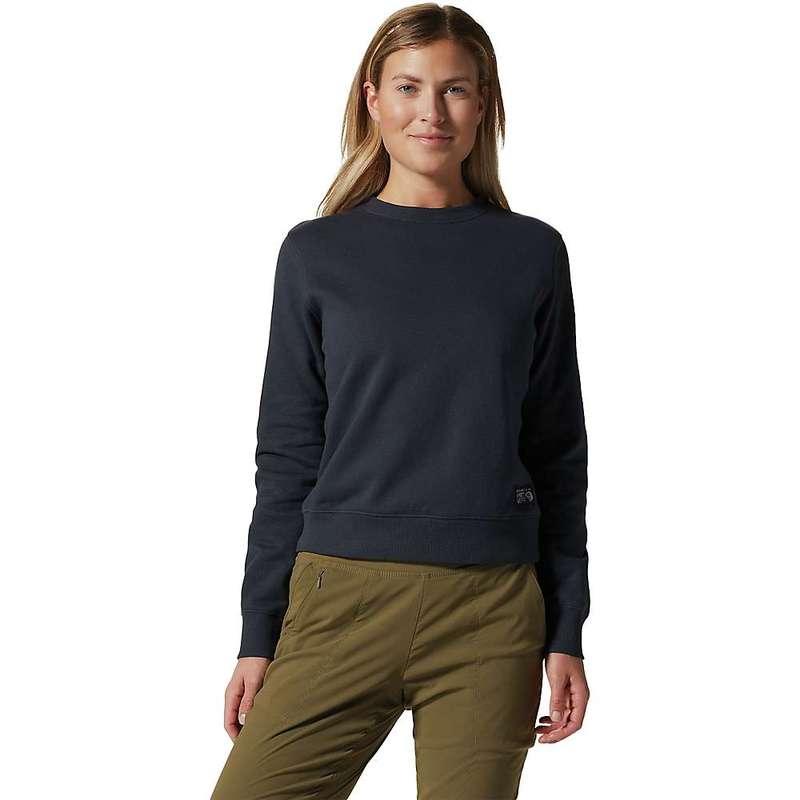 送料無料 サイズ交換無料 マウンテンハードウェア 贈り物 レディース アウター パーカー スウェット Dark Storm 10%OFF Mountain Hardwear Sweatshirt Women's Logo Label Crew MHW