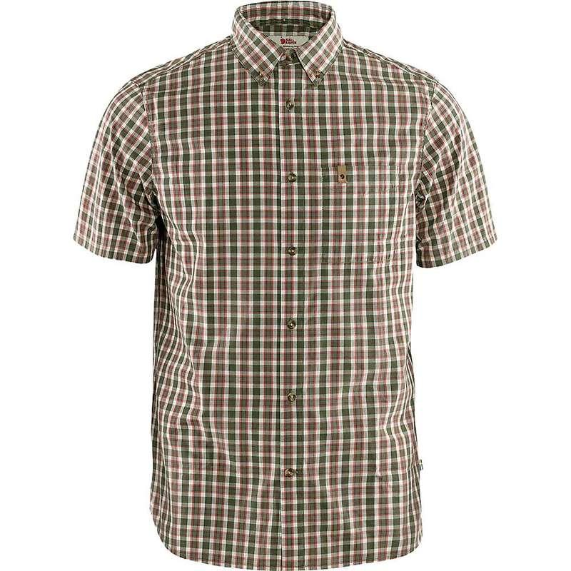 フェールラーベン メンズ シャツ トップス Fjallraven Men's Ovik SS Shirt Laurel Green