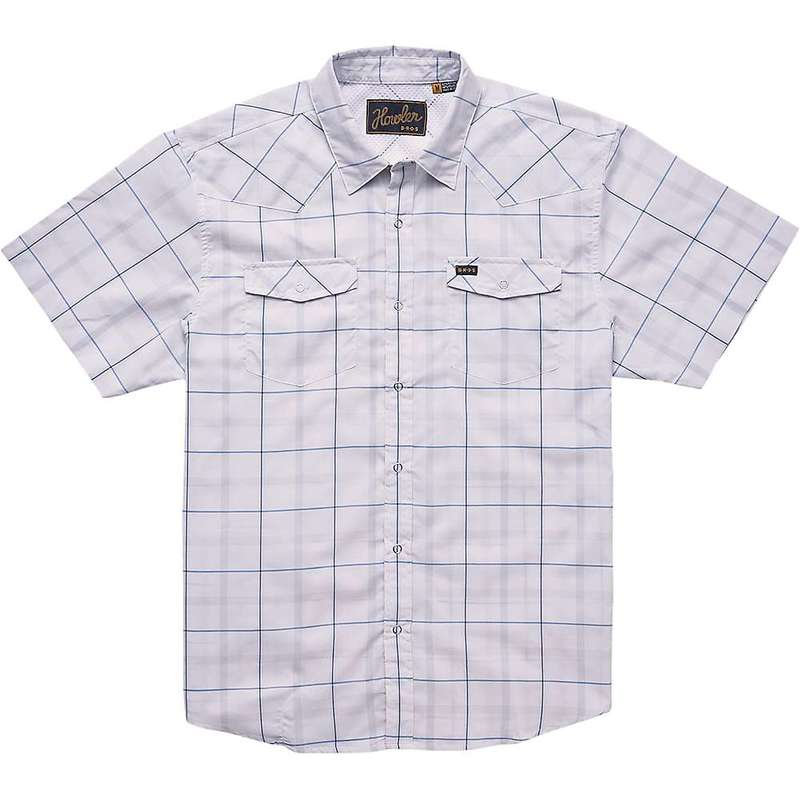 ハウラーブラザーズ メンズ シャツ トップス Howler Brothers Men's H Bar B Tech Shirt Portella Plaid / Eggshell
