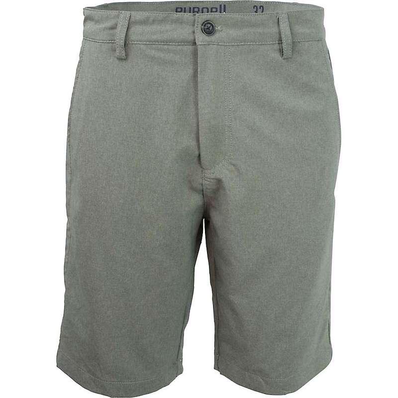 パーネル メンズ ハーフパンツ・ショーツ ボトムス Purnell Men's Heathered QuickDry 10IN Short Grey