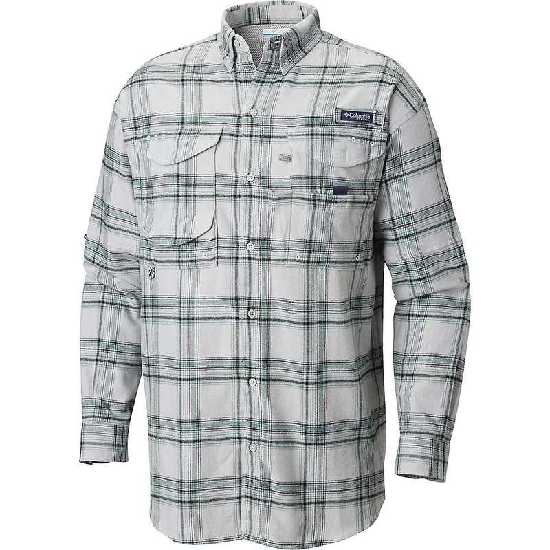 コロンビア メンズ シャツ トップス Columbia Men's Bonehead Flannel LS Shirt Cool Grey Large Plaid