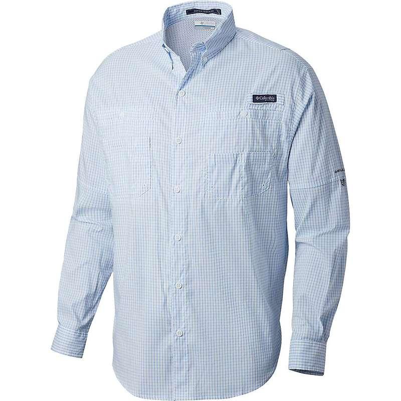 コロンビア メンズ シャツ トップス Columbia Men's Super Tamiami LS Shirt White Cap Mini Plaid