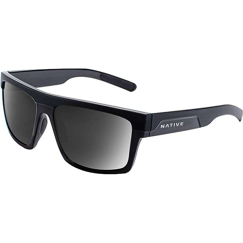 ネイティブ メンズ サングラス・アイウェア アクセサリー Native El Jefe Polarized Sunglasses Matte Black / Gloss Black / Grey Polarized