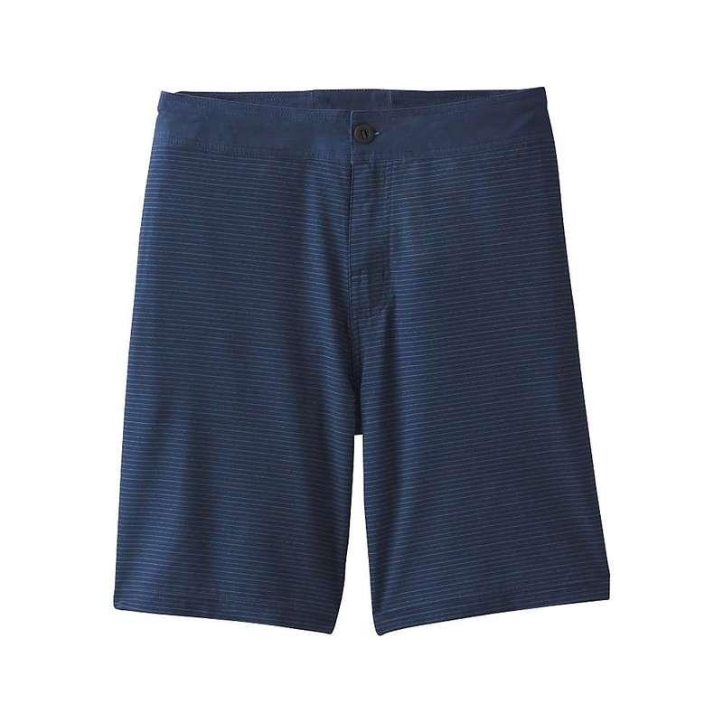 プラーナ メンズ ハーフパンツ・ショーツ ボトムス Prana Men's Saxton 9 Inch Short Nautical Thin Stripe