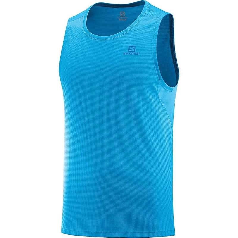サロモン メンズ Tシャツ トップス Salomon Men's Agile Tank Vivid Blue