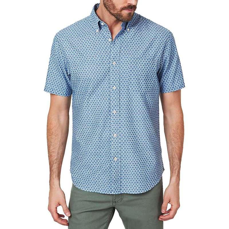 ファレティ メンズ シャツ トップス Faherty Men's SS Pacific Shirt Fishscale Redux