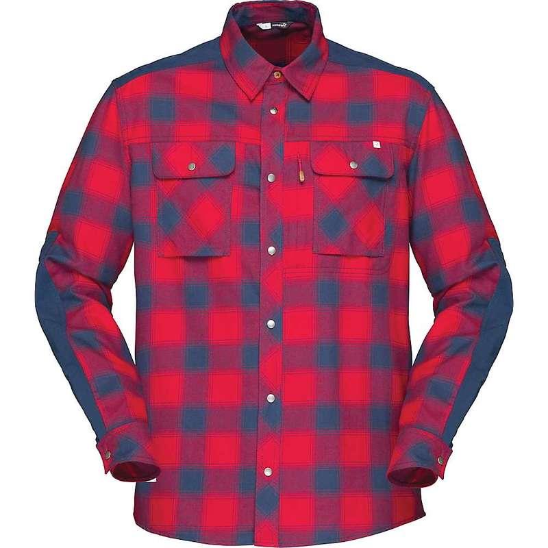 ノローナ メンズ シャツ トップス Norrona Men's Svalbard Flannel Shirt Jester Red